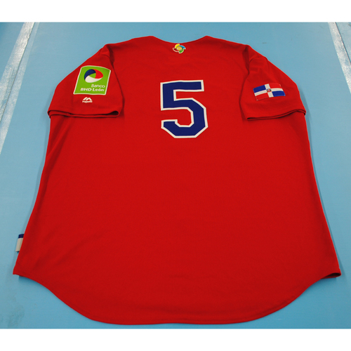 Photo of Team-Issued Batting Practice Jersey - 2017 World Baseball Classic - Dominican Republic Jersey #5 - XL