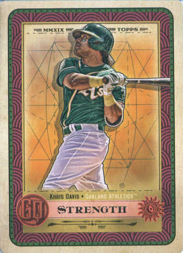 Photo of 2019 Topps Gypsy Queen Tarot of the Diamond #16 Khris Davis