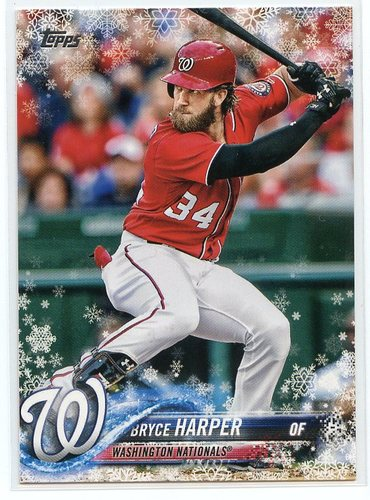 Photo of 2018 Topps Walmart Holiday Snowflake #HMW1 Bryce Harper