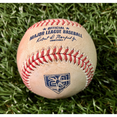 20th Anniversary Opening Day Game Used Baseball: Eduardo Nunez foul ball off Chris Archer - March 29, 2018 v BOS