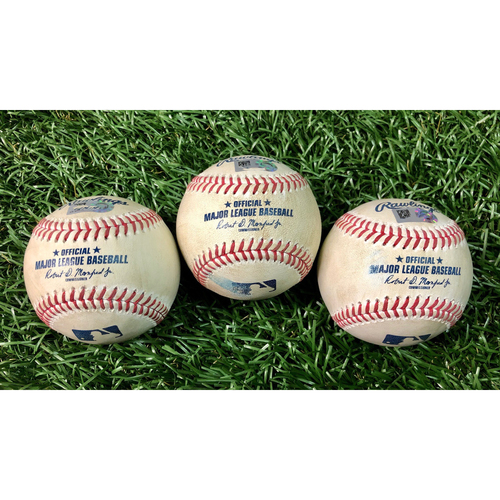 Photo of Game Used Baseball Package: Gary Sanchez, Giancarlo Stanton and Giovanny Urshela - August 7, 2020 v NYY
