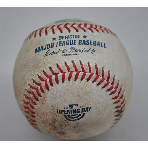 Photo of Game-Used Baseball - 7/31/2020 - Chicago White Sox vs. Kansas City Royals - Pitcher - Tyler Zuber, Batter - Tim Anderson (2-2 Count) - Nick Madrigal Debut Game
