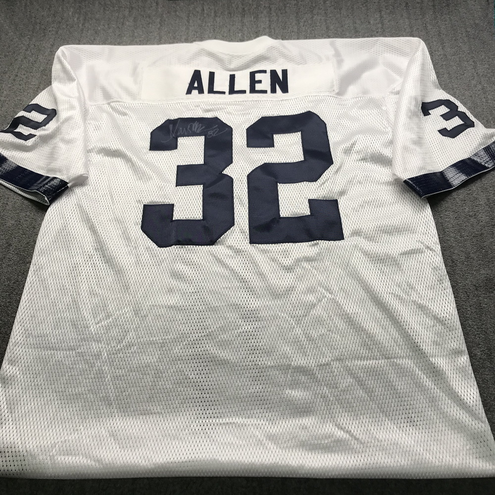 Legends - Raiders Marcus Allen Signed Replica Jersey size XL with Super Bowl 53 Tazon Latino Patch