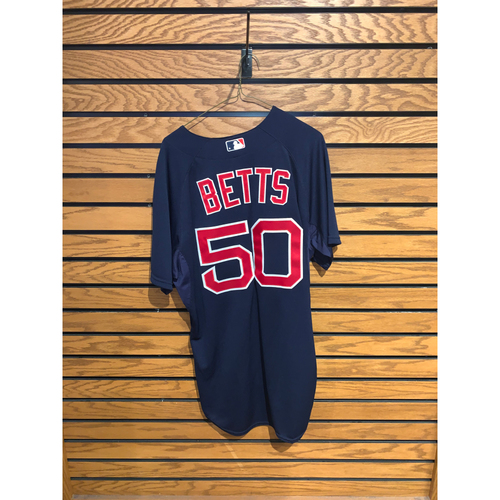 Photo of Mookie Betts Team Issued 2015 Road Alternate Jersey