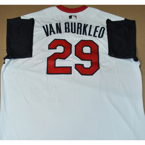 Photo of Game-used Jersey - 2021 Little League Classic - Los Angeles Angels vs. Cleveland Indians - 8/22/2021 - Great Lakes, Ty Van Burkleo #29