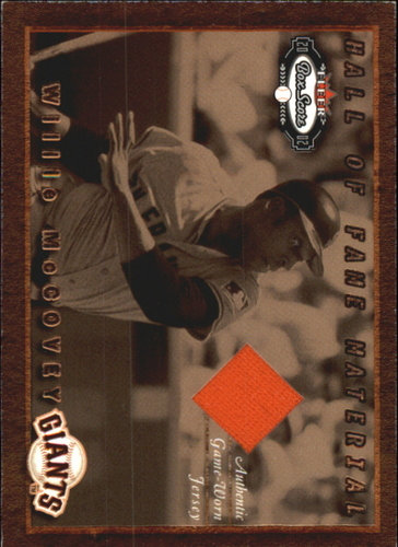 Photo of 2002 Fleer Box Score Hall of Fame Material #9 Willie McCovey Jsy