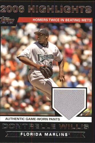 Photo of 2007 Topps Highlights Relics #DW2 Dontrelle Willis Pants B