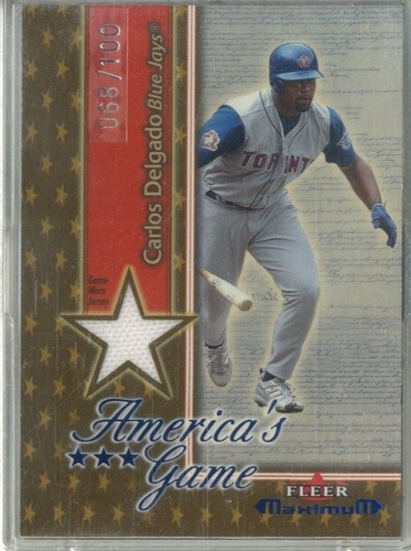 Photo of 2002 Fleer Maximum Americas Game Jersey Gold #4 Carlos Delgado