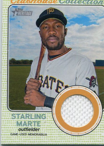 Photo of 2017 Topps Heritage Clubhouse Collection Relics  Starling Marte