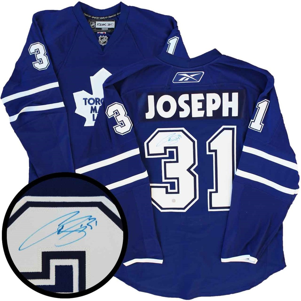 Leafs Curtis Jersey Nhl Signed Joseph Auctions Pro 2008-09 Blue Maple Toronto -
