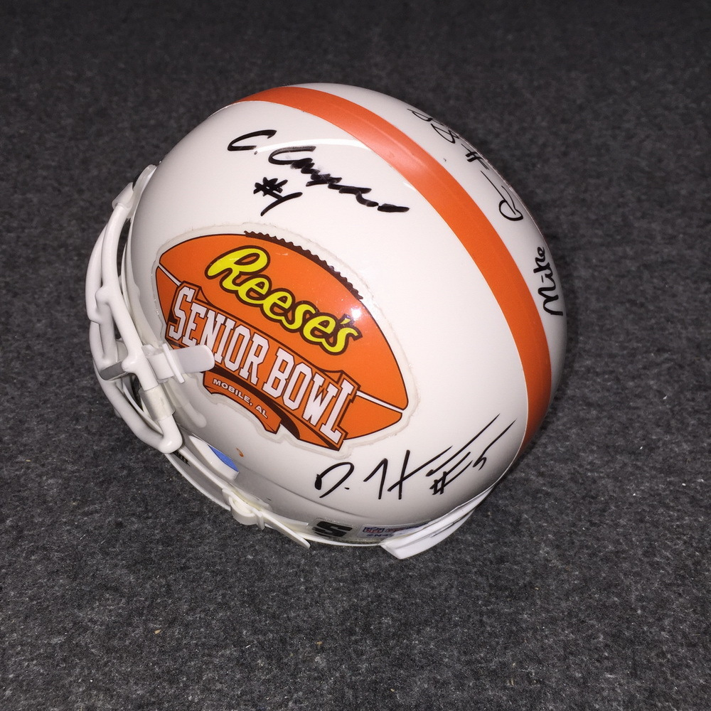 SENIOR BOWL - PENN STATE SIGNED SENIOR BOWL LOGO MINI HELMET (INCLUDING MIKE GESICKI , DAESEAN HAMILTON , CHRISTIAN CAMPBELL and MARCUS ALLEN