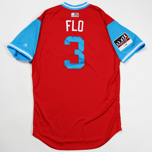 "Photo of Jose David ""Flo"" Flores Philadelphia Phillies Game-Used Jersey 2018 Players' Weekend Jersey"