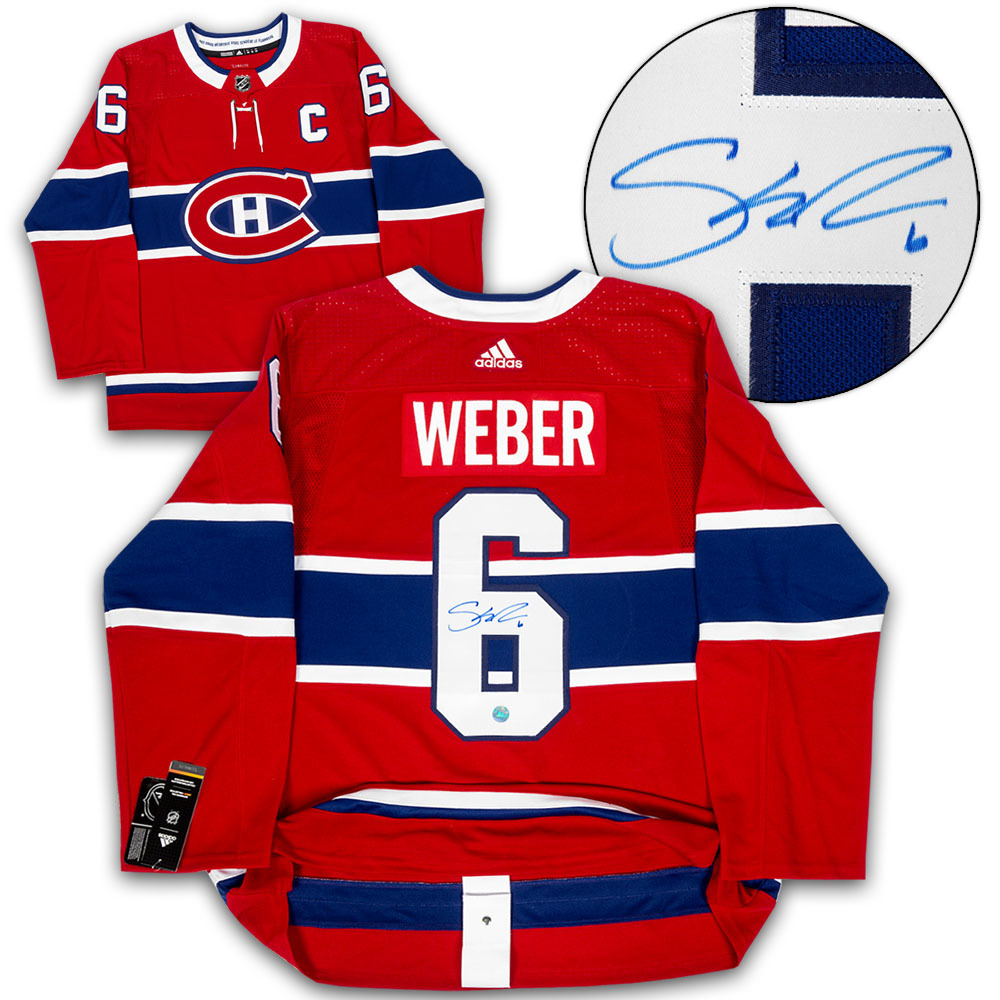 Shea Weber Montreal Canadiens Autographed Adidas Authentic Hockey Jersey
