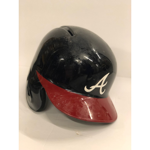 Photo of Nick Markakis Game-Used Postseason Batting Helmet - Worn 10/7/18 and 10/8/18 - Size 7 1/4
