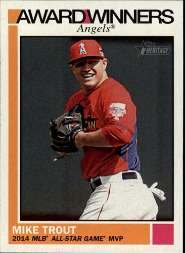 Photo of 2015 Topps Heritage Award Winners #AW9 Mike Trout