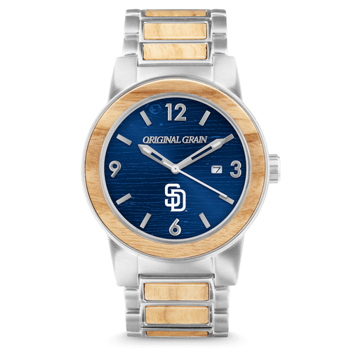 Photo of San Diego Padres - Reclaimed Baseball Bat Watch