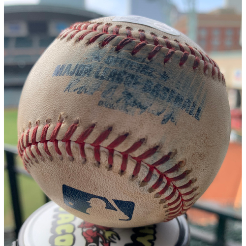 Photo of 2019 Game-Used Baseball  8/4/19 Astros vs. Mariners: Tommy Milone to Alex Bregman  (Double)-Bottom 6th