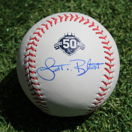 Photo of Autographed 50 Seasons Baseball: Scott Blewett