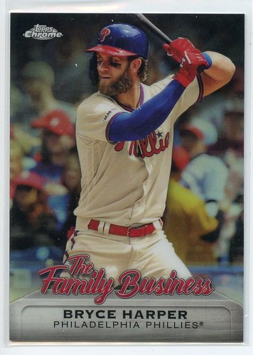 Photo of 2019 Topps Chrome Update The Family Business #FBC14 Bryce Harper