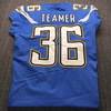 International Series - Chargers Roderic Teamer Game Used Jersey (11/18/19) Size 42