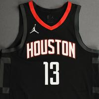 James Harden - Houston Rockets - Kia NBA Tip-Off 2020 - Game-Worn Statement Edition Jersey - Recorded a 44-point Double-Double