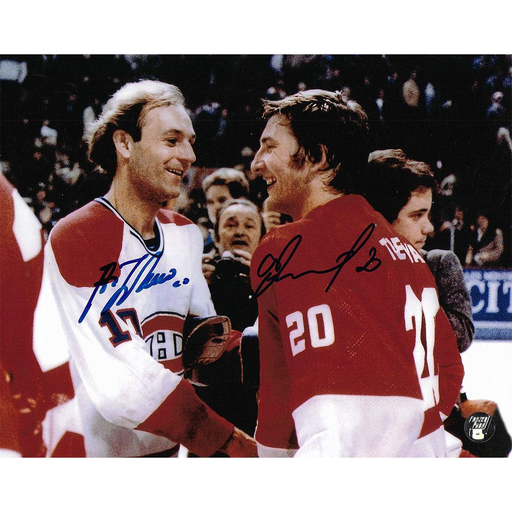 Guy Lafleur & Vladislav Tretiak Autographed 8X10 Combo Photo