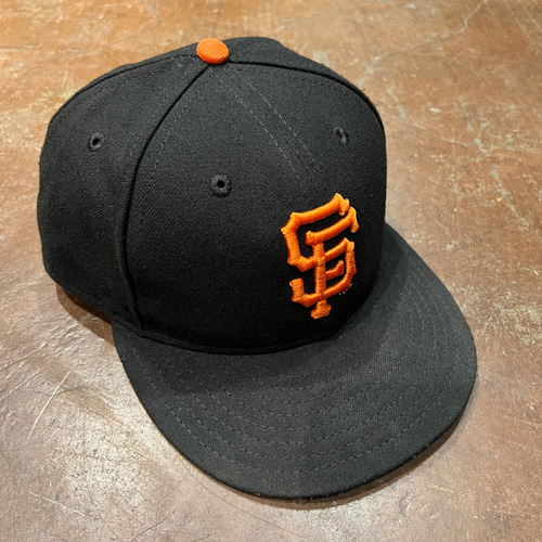 Photo of 2021 Game Used NLDS Game 5 Cap worn by #62 Logan Webb - Starting Pitcher - 7.0 IP, 7 K's, 1 ER - Size 7 1/4