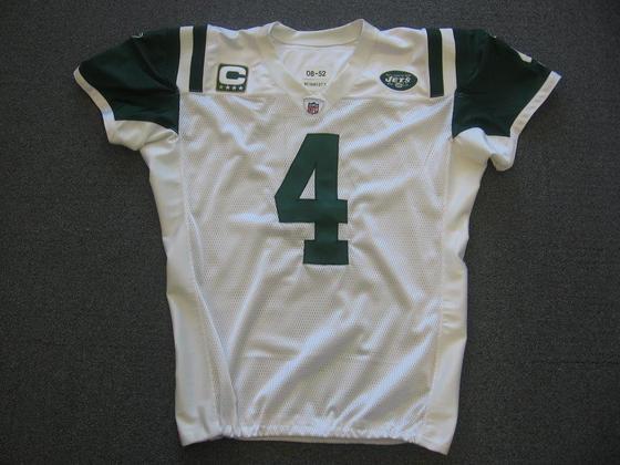 huge discount 70152 63816 NFL Auction | New York Jets - Brett Favre - Game Worn Jersey ...