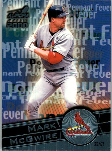 Photo of 2000 Aurora Pennant Fever Platinum Blue #15 Mark McGwire