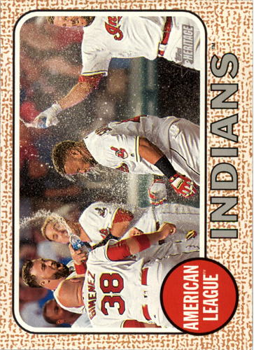 Photo of 2017 Topps Heritage #385 Cleveland Indians TC