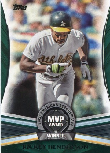 Photo of 2017 Topps Update MVP Award #MVP3 Rickey Henderson