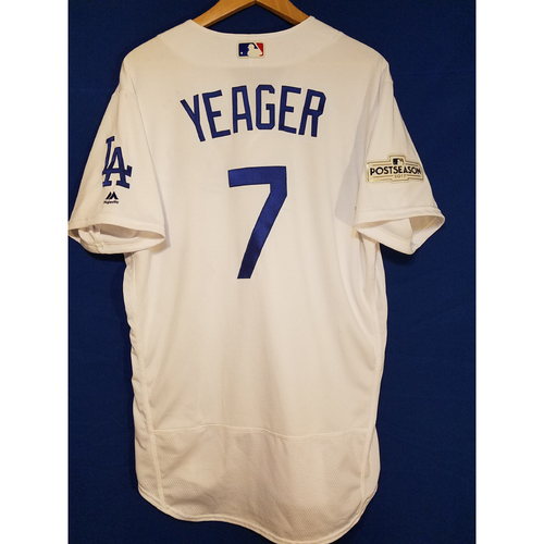 Steve Yeager Home 2017 Team-Issued Post Season Jersey