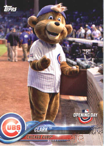 Photo of 2018 Topps Opening Day Mascots #M4 Clark