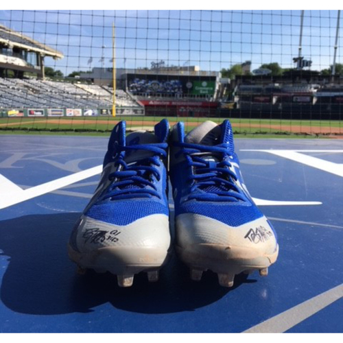 Photo of Game-Used & Autographed Danny Duffy Cleats - 5/2/18