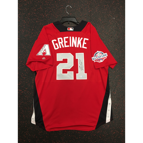Photo of Zack Greinke 2018 Major League Baseball Workout Day Autographed Jersey