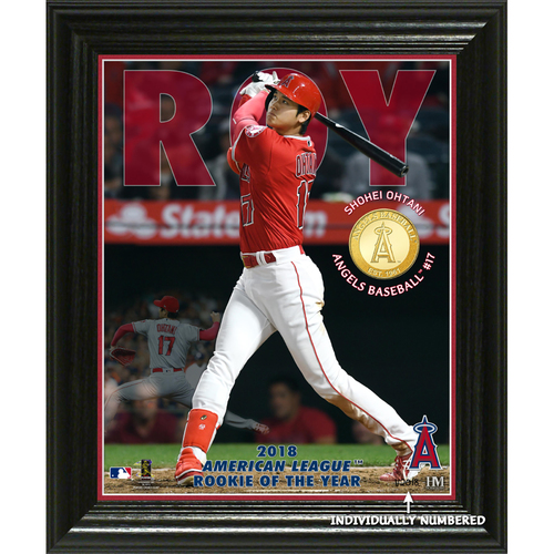 "Photo of Shohei Ohtani 2018 AL Rookie of the Year ""Elite Series"" Bronze Coin Photo Mint"