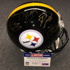 Steelers 2017-18 Pro Bowlers Multi Signed Helmet - Antonio Brown, Leveon Bell, Maurkice Pouncey, Chris Boswell, ben roethlisberger