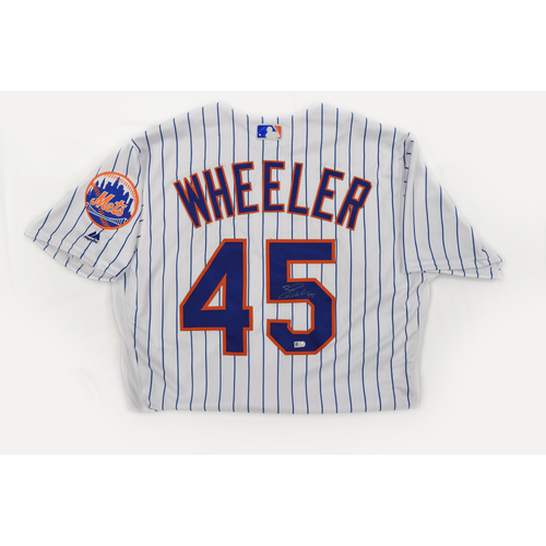 Amazin' Auction: Zack Wheeler Pinstripe signed jersey