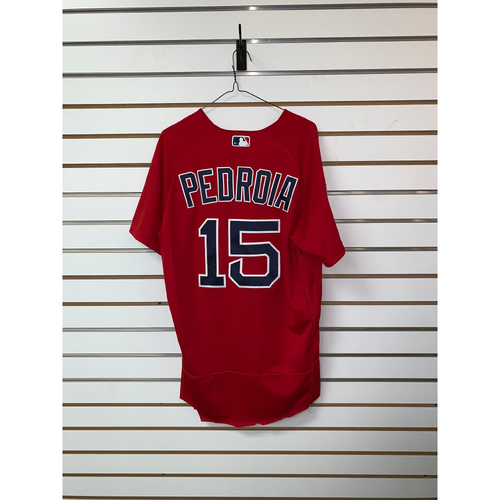 Photo of Dustin Pedroia Team Issued 2019 Spring Training Jersey