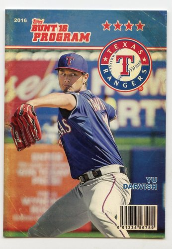 Photo of 2016 Topps Bunt Programs #P9 Yu Darvish