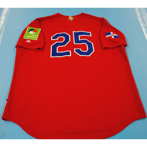 Photo of Game-Used Batting Practice Jersey - 2017 World Baseball Classic - Dominican Republic Jersey #25 - XL