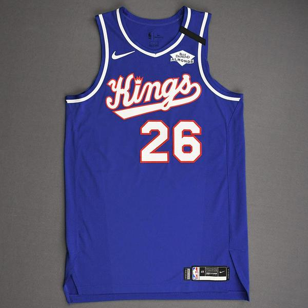 Image of Kent Bazemore - Sacramento Kings - Game-Worn Classic Edition 1990-94 Road Jersey - 2019-20 NBA Season