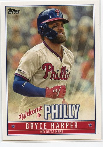 Photo of 2019 Topps Update Bryce Harper Welcome to Philly #BH2 Bryce Harper