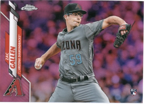 Photo of 2020 Topps Chrome Pink Refractors #132 Zac Gallen