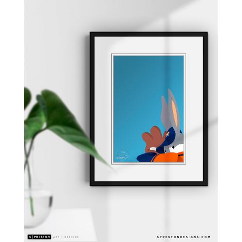 Photo of Baseball Bugs - Minimalist Limited Edition Art Print by S. Preston  - Houston Astros