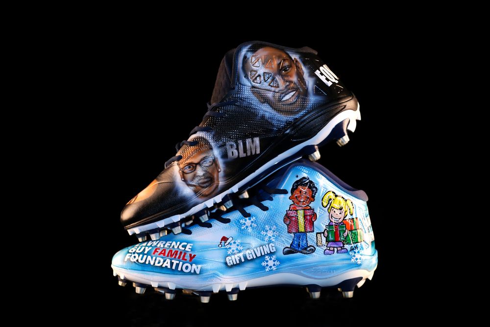 My Cause My Cleats - Patriots Lawrence Guy custom cleats supporting - The Lawrence Guy Family Foundation - Cleats will be autographed