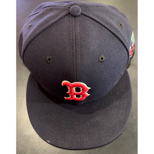 Photo of David Ortiz Final Season Logo Team Issued Cap