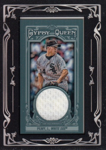 Photo of 2013 Topps Gypsy Queen Framed Mini Relics #JPE Jake Peavy