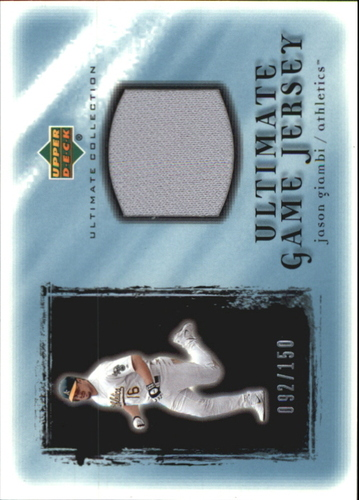 Photo of 2001 Ultimate Collection Game Jersey #UJAG Jason Giambi