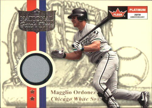 Photo of 2001 Fleer Platinum National Patch Time #40 Magglio Ordonez Gray S1
